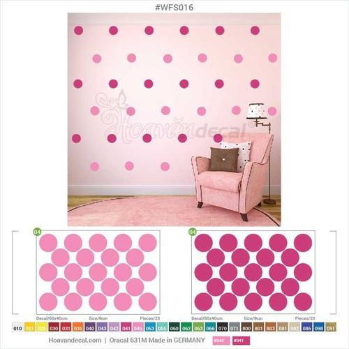 Decal confetti dán tường wfs016 - size 2 tấm 60 x 40 cm - [sale 30]