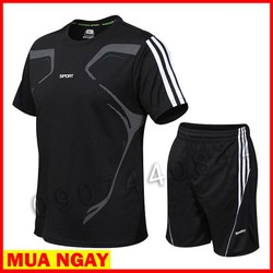 Bộ quần áo thể thao nam Đồ bộ thể thao nam mặc nhà