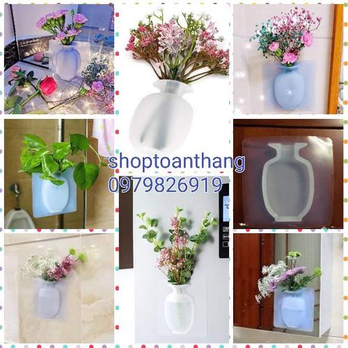 Sét 2 lọ hoa silicon dán tường - 12643826 , 20498158 , 15_20498158 , 90000 , Set-2-lo-hoa-silicon-dan-tuong-15_20498158 , sendo.vn , Sét 2 lọ hoa silicon dán tường