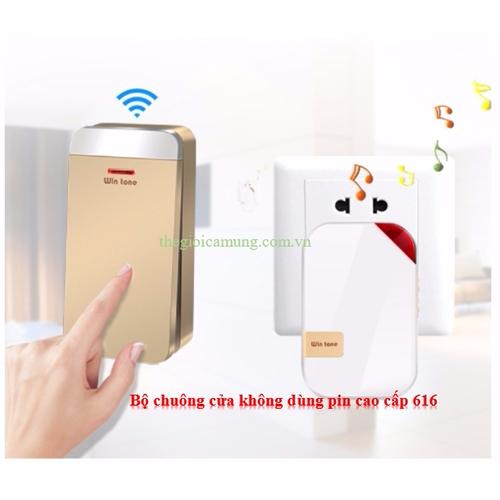 Chuông cửa không dây không dùng pin cao cấp wintone w668