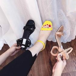 Giày sandal cao gót gót tròn