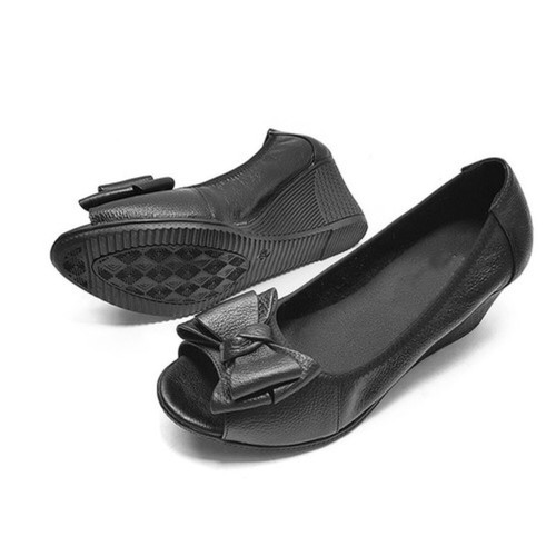 Giày búp bê hở mũi cao 5cm NN