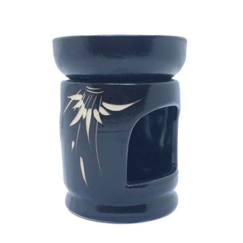 Combo 3in1 - đèn xông, đốt, khử mùi, khuếch tán tinh dầu bát tràng dùng nến hình tròn chén lớn + 1 tinh dầu 10ml + 10 viên nến