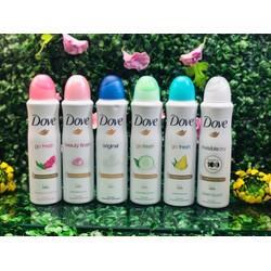 Bộ 3 chai xịt khử mùi Dove nữ 150ml mùi ngẫu nhiên