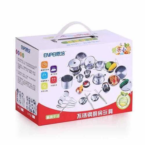 Bộ đồ chơi nấu ăn inoc 40 chi tiết kèm quà tặng - 12657566 , 20516943 , 15_20516943 , 450000 , Bo-do-choi-nau-an-inoc-40-chi-tiet-kem-qua-tang-15_20516943 , sendo.vn , Bộ đồ chơi nấu ăn inoc 40 chi tiết kèm quà tặng