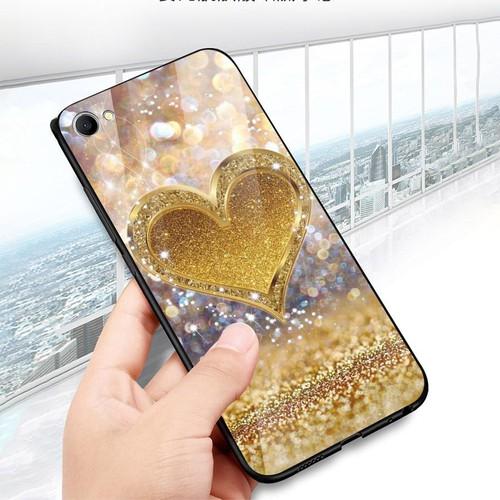 Ốp kính cường lực cho điện thoại oppo f1s - a59 - trái tim tình yêu ms love001