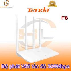 Router WiFi Tenda F6 4 angten 5dBi chuẩn N 300Mbps chính hãng - Microsun phân phối