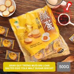 Bánh quy trứng muối đài loan Salted Egg Yolk Malt Sugar Biscut 500g