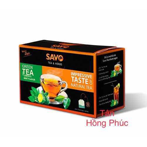 Trà chanh túi lọc savo tea & herbs combo 5hộp