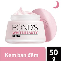 Kem Dưỡng Trắng Da Ban Đêm Pond's White Beauty Trắng Hồng Tinh Khiết - 50g