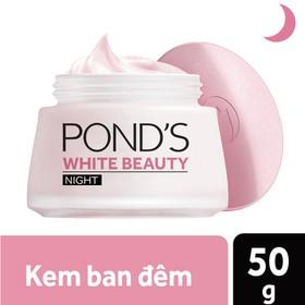 Kem Dưỡng Trắng Da Ban Đêm Pond's White Beauty Trắng Hồng Tinh Khiết - 50g - 8999999057978
