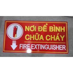 Giảm giá biển báo nơi để bình chữa cháy Fomex dán decal 20 x 40cm