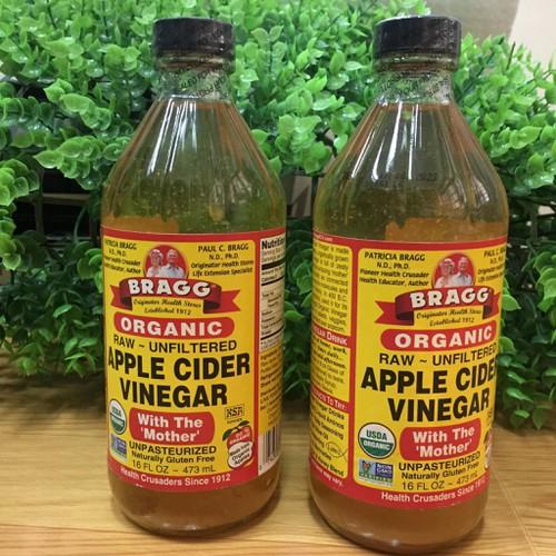 Giấm táo hữu cơ bragg chai 473ml - hàng mỹ