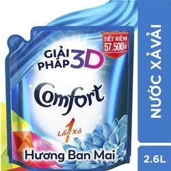 Túi Nước Xả Comfort 1 Lần Xả Hương Ban Mai 2.6L