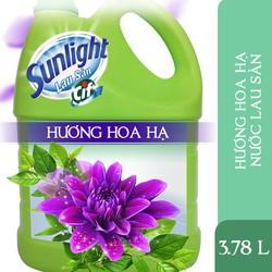 Nước Lau Sàn Sunlight Tinh Dầu Thiên Nhiên - Hương Hoa Hạ 3.8kg