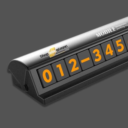 Bảng ghi số điện thoại xe hơi-ô tô 12.5*2.7cm  spw-04