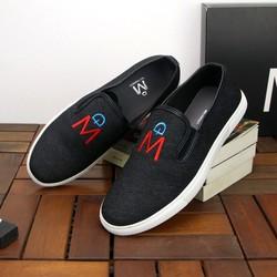 Giày lười nam đen đế trắng phong cách MĐ TS421 Tronshop