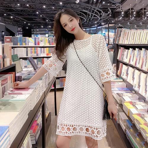 Đầm nữ họa tiết lạ thời trang dễ thương