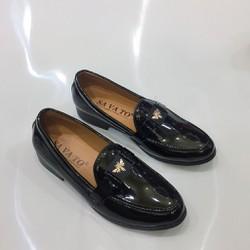 Giày tây nam da bóng đai bướm vàng lịch lãm may đế hàng cao cấp giá rẻ Vina Store