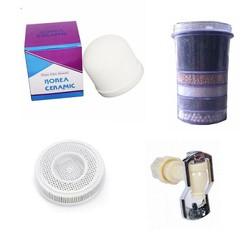 Bộ 4 thiết bị lọc nước gồm: nấm sứ, lõi than 5 tầng, đá khoáng, vòi nước