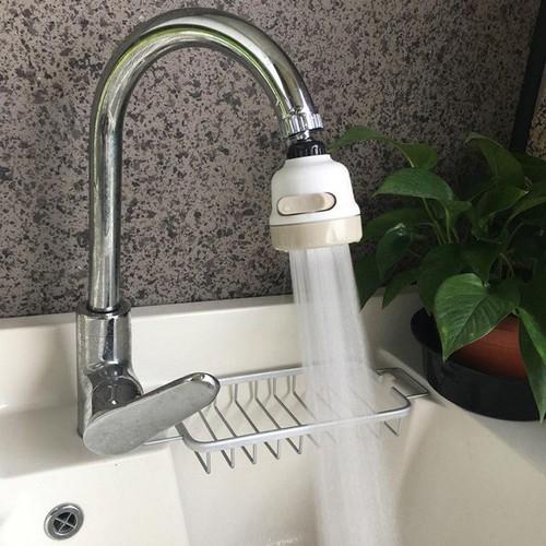 Đầu vòi rửa bát tăng áp xoay 360 độ siêu mạnh với 3 chế độ phun tiết kiệm nước