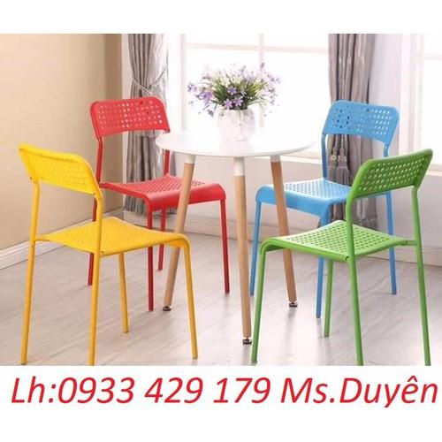 Bàn ghế nhựa đúc khung sắt giá rẻ KD: 9073