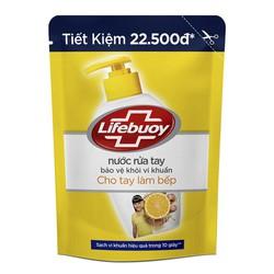 Nước Rửa Tay Lifebuoy Cho Tay Làm Bếp Dạng Túi 450g - 8934868133445