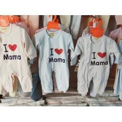 Bodysuits I LOVE MAMA cho bé Hàng Quảng châu