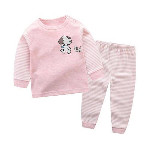 Bộ quần áo thu đông cổ tròn cho bé trai, bé gái - Hàng quảng châu cao cấp cotton Organic cực đẹp cho bé