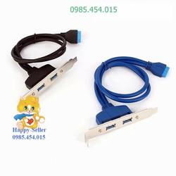 Good_ Cáp chia 2 cổng USB3.0 từ chân cắm 20pin cho PC_Mới