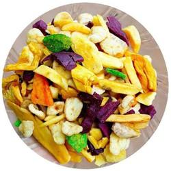 combo 2kg trái cây sấy khô thập cẩm nguyên chất 100% không phẩm màu, hóa chất.Bảo đảm vệ sinh an toàn thực phẩm