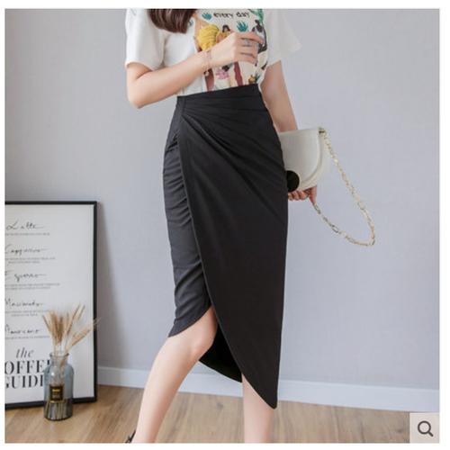 Chân váy nữ xếp ly hông váy dáng dài thời trang dễ thương