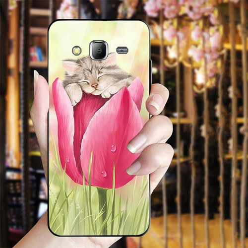 Ốp kính cường lực cho điện thoại Samsung Galaxy J2 Prime - dễ thương muốn xỉu MS CUTE028