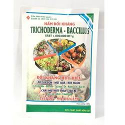 Phân hữu cơ vi sinh Trichoderma Bacilius gói 100g. Chuyên xử lý phế thải, chất hữu cơ và nấm đối kháng.