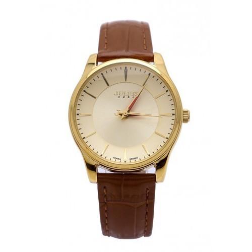 Đồng hồ nữ julius hàn quốc dây da màu  nâu