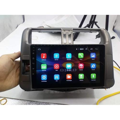 Màn hình android cho ô tô prado tích hợp sim 4g