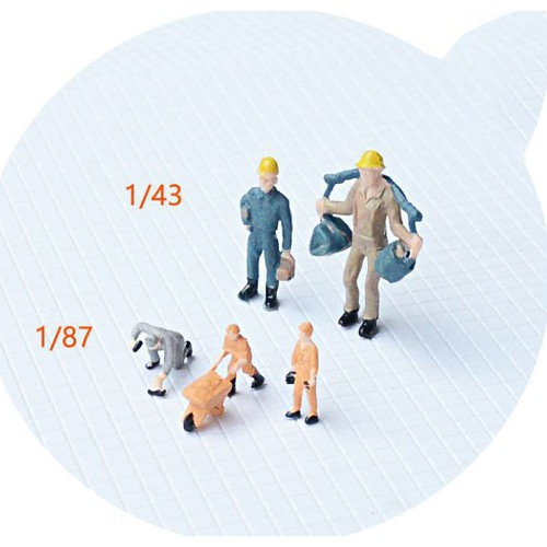 Người công nhân mô hình tỉ lệ 1phần 87 dùng trang trí túi 2 người