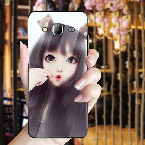 Ốp điện thoại kính cường lực cho máy Samsung Galaxy J2 Prime - cô gái cá tính MS CGCT009
