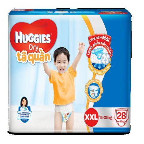 Tã quần huggies size xxl 28 miếng -dành cho bé từ 15 đến 25kg