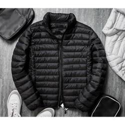 Áo khoác phao nam cao cấp màu đen