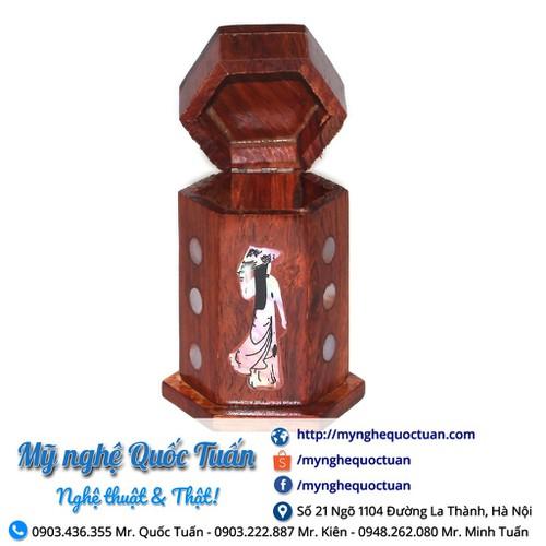 Hộp đựng tăm lục giác gỗ hương khảm hình cô gái - 12687734 , 20558609 , 15_20558609 , 18000 , Hop-dung-tam-luc-giac-go-huong-kham-hinh-co-gai-15_20558609 , sendo.vn , Hộp đựng tăm lục giác gỗ hương khảm hình cô gái