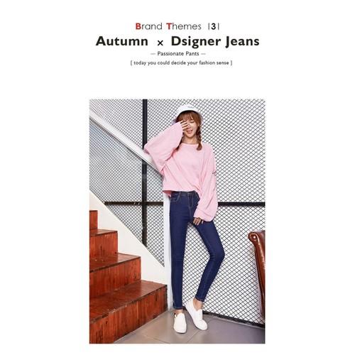 Quần jeans nữ trơn ôm