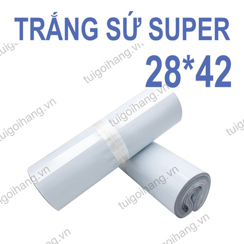 20 túi niêm phong - túi đóng hàng trắng sứ cao cấp 28x42cm