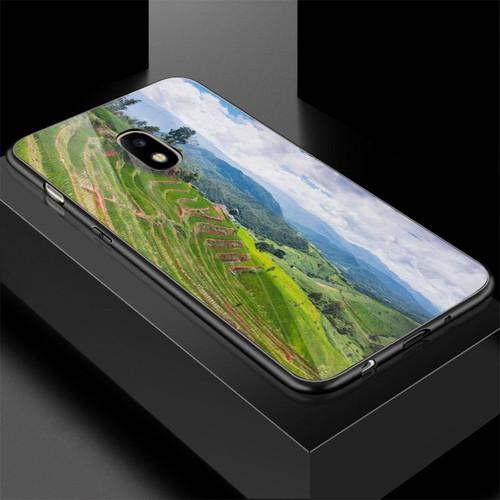 Ốp điện thoại kính cường lực cho máy samsung galaxy j7 plus - quê hương ms qhuong007