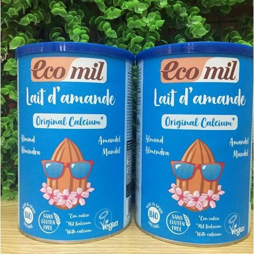 Sữa bột hạnh nhân canxi hữu cơ ecomil hộp 400g