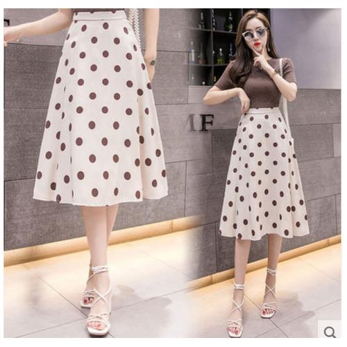 Chân váy voan nữ chấm bi thời trang dẽ thương