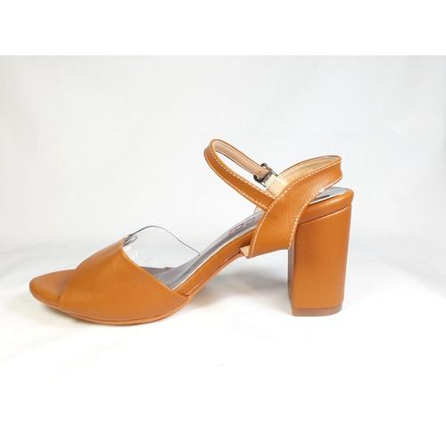 Giày cao gót sandal cao 8cm hở mũi đế vuông
