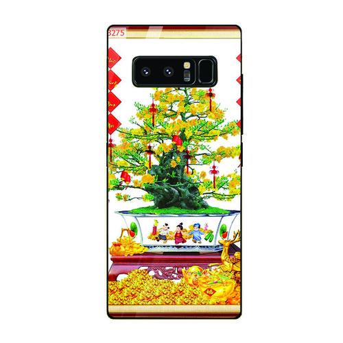 Ốp điện thoại kính cường lực cho máy Samsung Galaxy Note 8 - Tranh Mai Đào MS MDAO007