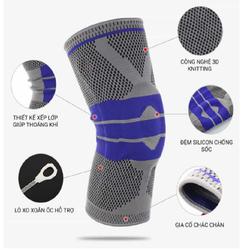 Băng gối thể thao có 2 lò xo hỗ trợ vận động. 1 đệm silicon bảo vệ đầu, thương hiệu Ortho, size M,L,XL