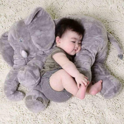 Thú nhồi bông hình voi xám